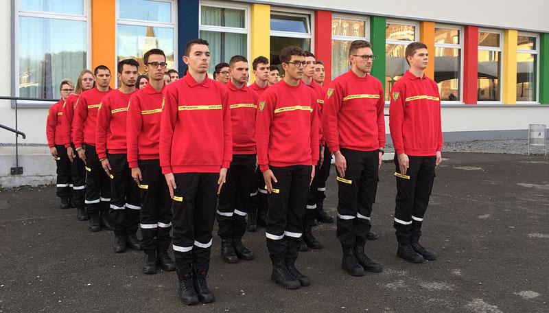 Bac pro métiers de la sécurité, élèves sapeurs pompiers de Saint-Charles Chauny