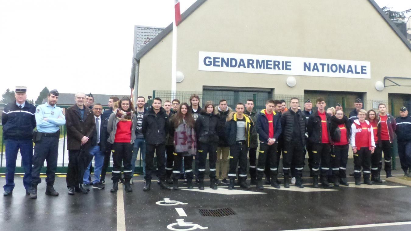 Les lycéens de Chauny en immersion chez les gendarmes