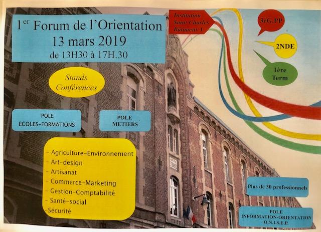 Forum Orientation 13 Mars 2019 Saint-Charles