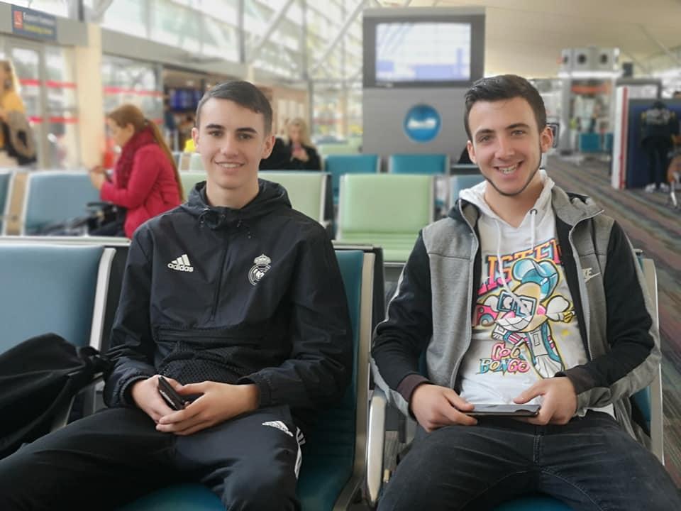 Départ voyage Canada des élèves de Saint-Charles