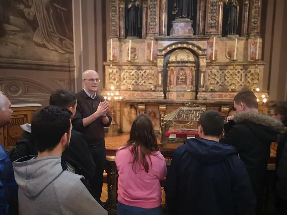Rencontre avec le Père Jésuite John Meehan et le Père Vadnais en l'église du Gesú