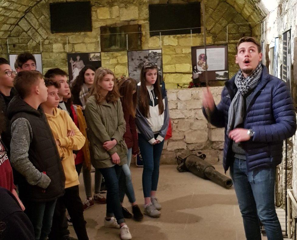 Collégiens de Saint-Charles au Fort de Douaumont