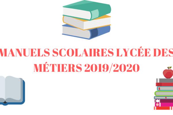 Manuels scolaires du Lycée des Métiers 2019/2020