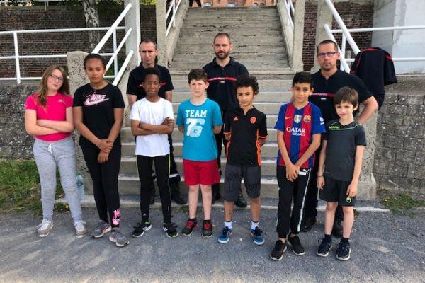 Les futurs Jeunes Sapeurs-Pompiers de Saint-Charles