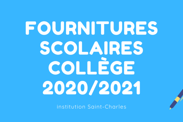 Founitures scolaires Collège 2020-2021