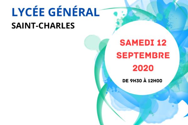 JOURNÉE PORTES OUVERTES LYCÉE GÉNÉRAL le Samedi 12 Septembre 2020 de 9h30 à 12h00