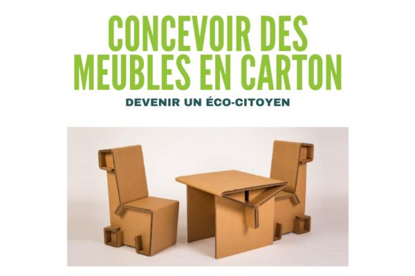 INSCRIPTION : CONCEPTION DE MEUBLES EN CARTON. Tous les jeudis de 12h30 à 13h15 au CDI, pour les Lycéens de Saint-Charles