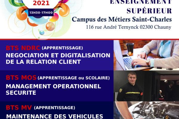 Portes Ouvertes du Campus des Métiers le samedi 23 janvier 2021