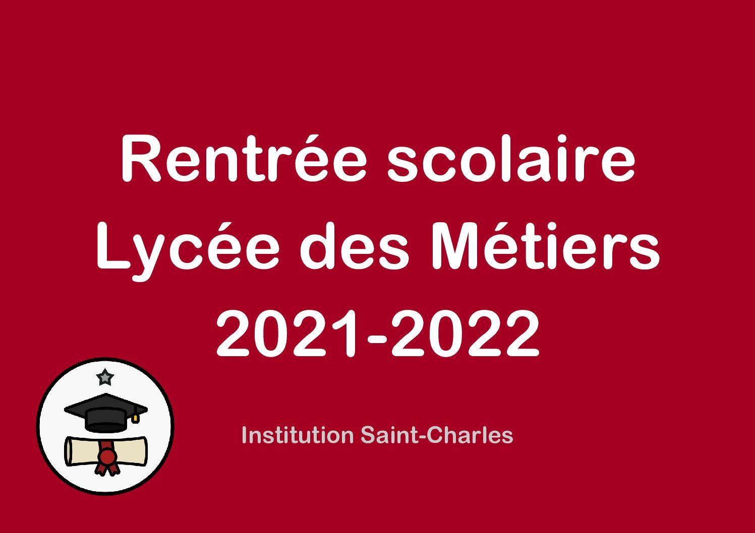 Rentrée 2021-2022 : Lycée des Métiers
